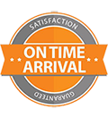 On Time Arrival Guarantee Badge