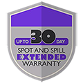 30-day Spot and Spill Warranty